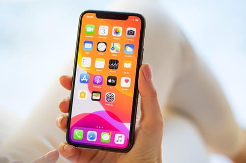 iPhone screen